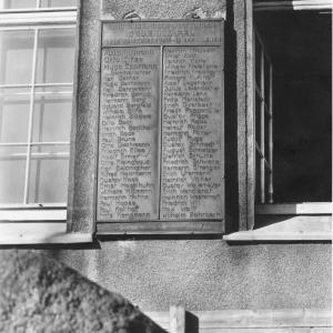 Gedenktafel für die Gefallenen des Lehrerseminars. Foto: Stadtarchiv Hattingen