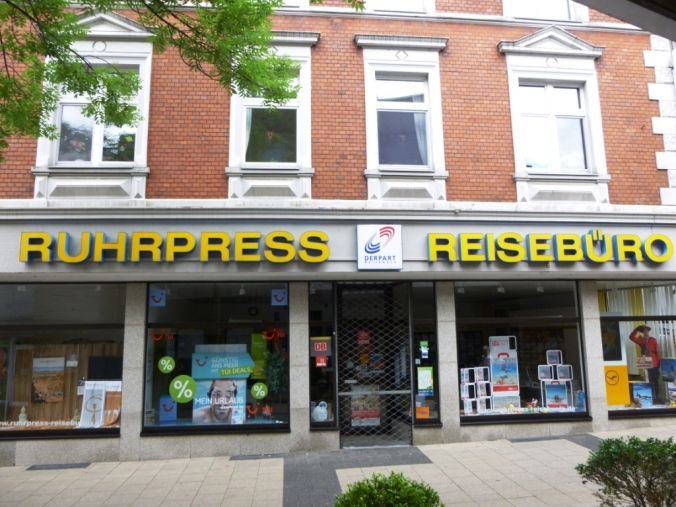 Ruhrpress-Reisebüro an der St. Georg-Straße. Foto: LRF