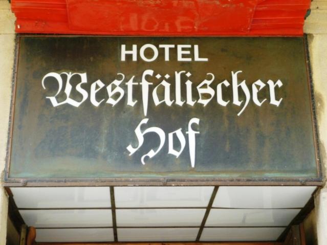 Stadtcafe Westfälischer Hof an der Bahnhofstraße. Foto: LRF