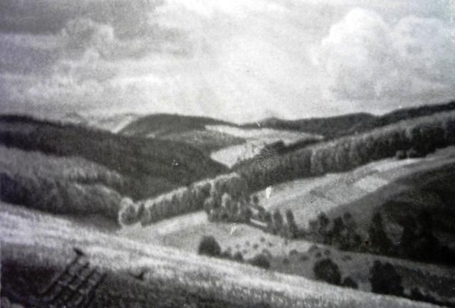 """Bild der Serie """"Sauerland"""" von Max Clarenbach. Repor aus der """"Heimat am Mittag"""" vom 17. Juni 1944."""