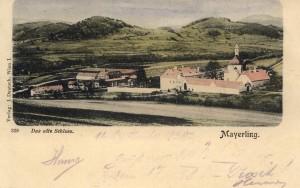 Das Jagdschloss Mayerling vor 1889 auf einer historischen Ansichtskarte. Bild: Sammlung Lars Friedrich