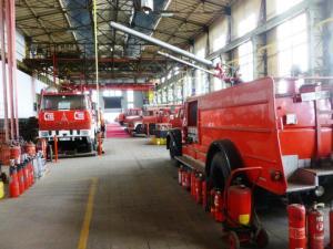 In Hattingen entsteht ein großes Museum des Feuers: Feuerwehrveteranen seit 1942 sind empfangsbereit aufgestellt. Foto: LRF/HAT