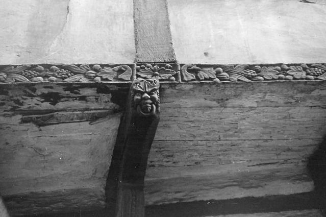 Filigrane Schnitzereien am Bügeleisenhaus. Foto: Werth/Archiv des Heimatvereins Hattingen/Ruhr e.V.