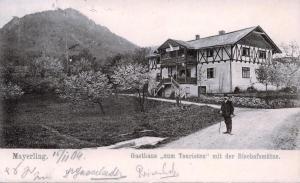 """Das """"Gasthaus zum Touristen"""" in Mayerling um 1904. Foto: Mayerling-Sammlung Friedrich"""