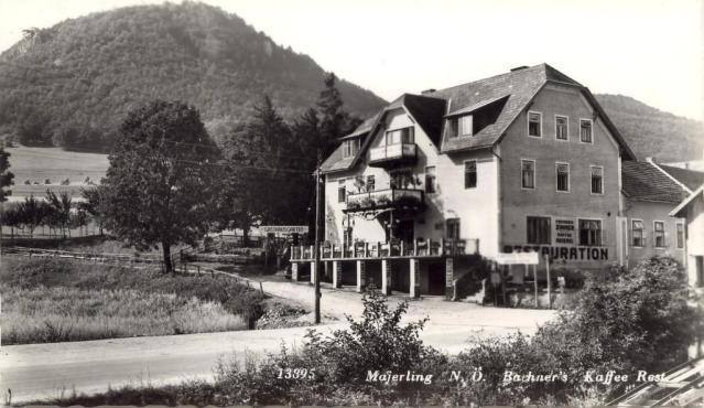 Bachners Restauration in Mayerling. Foto: Mayerling-Sammlung Friedrich