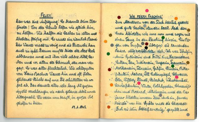 Feuer und Fasching - Lagererinnerungen aus Mayerling 1945.