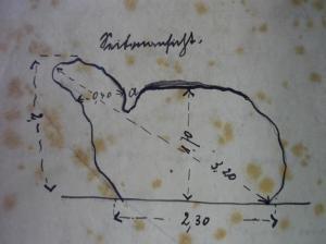 Frühe Steinzeichnung im Stadtarchiv Hattingen. Repro: Lars Friedrich