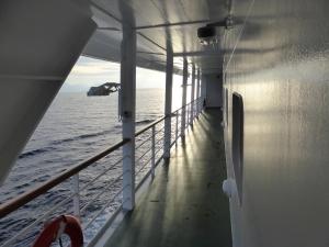 Der umlaufende Relingbereich auf Deck 6. Foto: Lars Friedrich