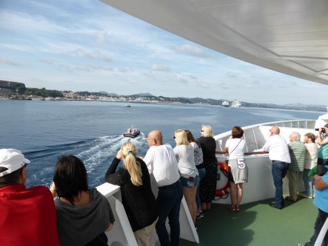 Auf dem Weg in den Hafen von Korfu. Foto: Lars Friedrich