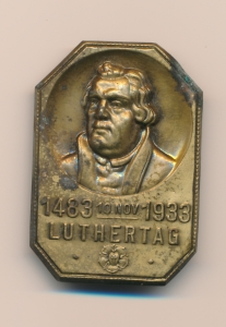 Luther-Medaille von 1933 aus dem Stadtarchiv Hattingen.
