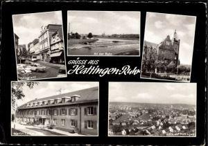 Das ML-Haus auf einer Postkarte (unten links).