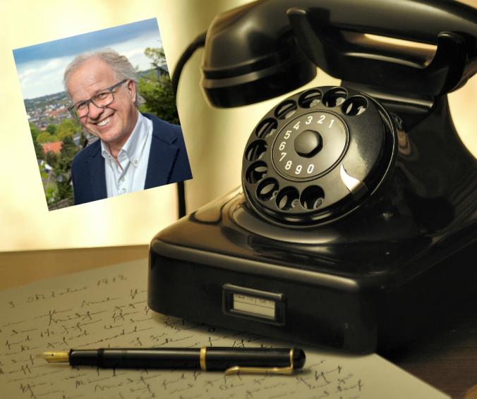 Dirk Glaser lieh der Telefonanlage der Stadtverwaltung 11 Jahre lang seine Stimme.