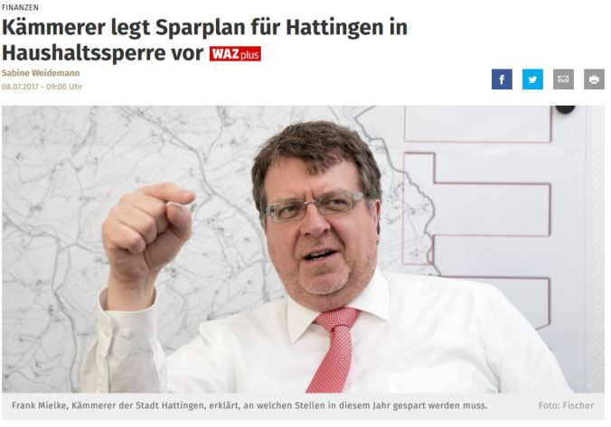 Screenshot WAZ Hattingen, Samstag, 08.07.2017