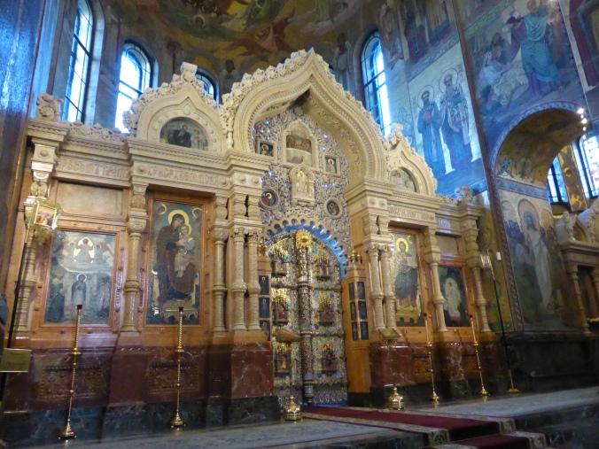Ikonostase in der Auferstehungskirche in St. Petersburg (auch als Blutkirche, Erlöserkirche und Erlöser-Kirche auf dem Blut bekannt). Foto: Lars Friedrich