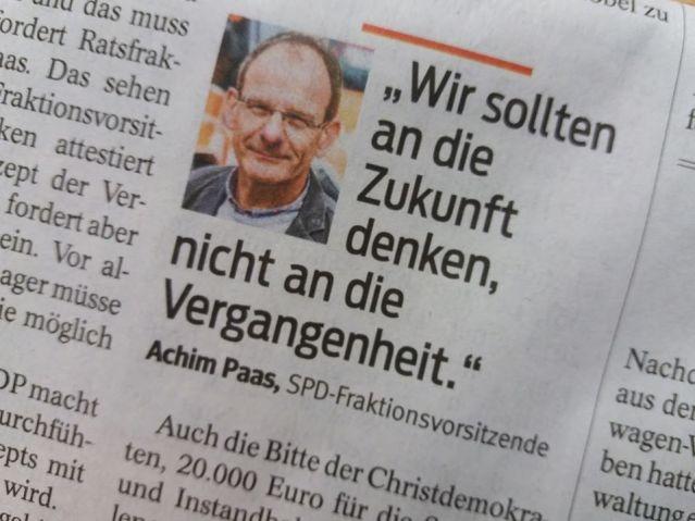 Aus der Hattinger Heimatzeitung am 3. Dezember 2019.