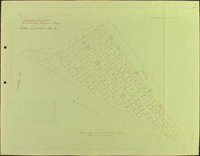 Das erste Gräberfeld im Juni 1945 auf dem Kommunalfriedhof Welper. Quelle: DE ITS 5.3.5 6.23Arolsen Archives, 2019