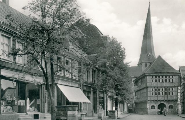 Der Hattinger Untermarkt in den 1950er Jahren. Foto: Stadtarchiv Hattingen